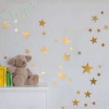online get cheap gold star wall decals aliexpress com alibaba group gold stars wall decal vinyl stickers golden star kids rooms wall art nursery decor stickers