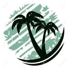 dessin de palmiers sur fond abstraite clip art libres de droits