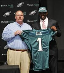 Fletcher Cox and Andy Reid