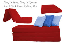 folding foam bed red 5inch tri folding the futon shop