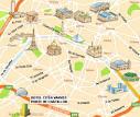 Hotel Paris : x-Hotel Citea Vanves PORTE DE CHATILLON, plan Porte.