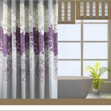 Bed Bath And Beyond Shower Curtain Liner Bathroom Modern Bathroom Design With Purple Flower Pattern Large