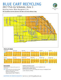 North Shore Chicago Map by City Of Chicago Blue Cart Schedule And Maps