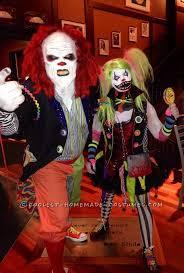 Clowns Halloween Costumes Creepy Clown Couple Costume Creepy Clown Halloween Costume