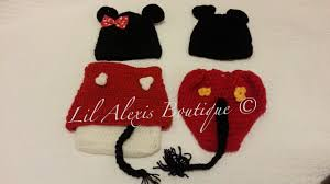 lil alexis boutique twin mickey and minnie mouse set for newborn