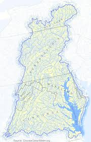 Roanoke Virginia Map by Rivers And Watersheds Of Virginia