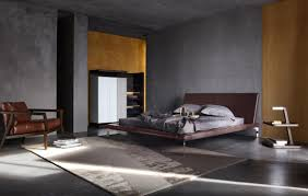 Bedroom Modern Furniture Minimalist Masculine Bedroom With Grey Walls And Modern Furniture
