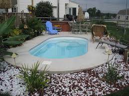 semi inground pools inground fiberglass pools are easier to