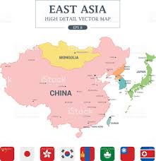 Fuzhou China Map by East Asia Map Full Color High Detail Separated All Countries
