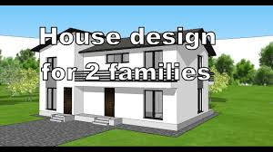 sketchup design plans for a two storey house for 2 families