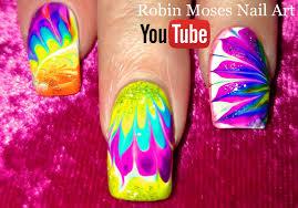 Robin Moses Nail Art by Robin Moses Nail Art Lavender And Pink No Water Dry Drag Marble