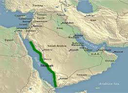 Map Of The Red Sea Tihamah Wikipedia