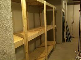 Build Wooden Shelf Unit by Build Free Standing Shelving Unit For Basement Or Garage Project