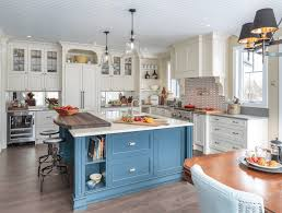 Beautiful Kitchen Cabinets by Furniture Beautiful Kitchen With Blue And White Kitchen Cabinets