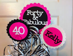 40th birthday decorations 3 piece centerpiece sign set with