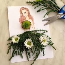 composition florale haute creative fashion dresses compositions composition illustrators