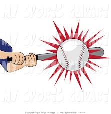 bats images clip art sports clip art of a baseball batter hitting a ball by pams