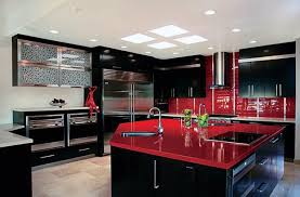 Red And Black Kitchen Ideas Brilliant Kitchen Ideas Black Cabinets White With Throughout Design