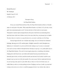 Essay Descriptive Essay Six Flags   Nature cover letter an example of a descriptive essay an Resume Template   Essay Sample Free Essay Sample Free
