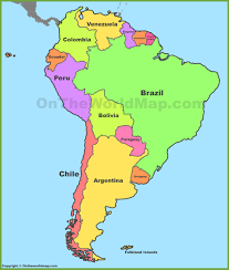 Political Map Of United States And Canada by South America Maps Maps Of South America Ontheworldmap Com