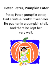 Halloween Preschool Printables Itty Bitty Rhyme Peter Peter Pumpkin Eater Itty Bitty