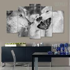 Wolf Mural by Wolf Pack Painting 5 Piece Canvas Empire Prints