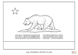 flag of california coloring page free printable coloring pages