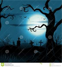 creepy tree halloween background with full moon royalty free stock