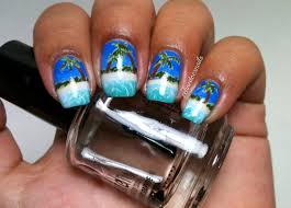 nails by celine tropical beach nail art