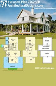 house plans with porches wrap around single story farmhouse porch