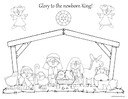nativity scene coloring pages jesus in the manger coloring pages