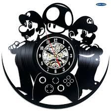Super Mario Home Decor by Wall Ideas Wall Art Clock Doodle Deco Wall Clock Artwork Diy