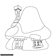 smurfs coloring pages