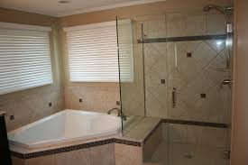 bathroom frameless shower doors matched with tan wall plus white
