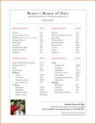 11 price list template for hair salon plantemplate info