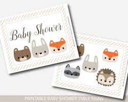 woodland baby shower table signs woodland baby shower decorations