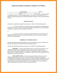 Durable Financial Power Of Attorney by 10 Power Of Attorney Oregon Form Scholarship Letter