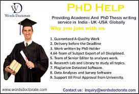 thesis writing for phd