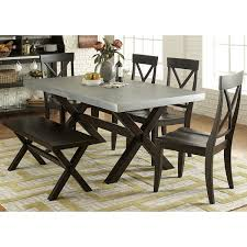 Discount Dining Room Sets Free Shipping by Keaton Charcoal And Zinc Top Trestle Dinette Table Free Shipping