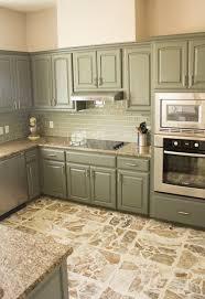 Enamel Kitchen Cabinets by Best 25 Green Kitchen Cabinets Ideas On Pinterest Green Kitchen