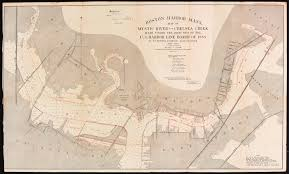T Boston Map by Boston Harbor Mass Map Of Mystic River And C