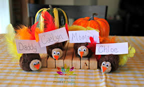 thanksgiving kids craft turkey place card holders from crazy