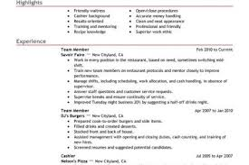 Fast Food Resume Samples by Food Safety Resume Examples Reentrycorps