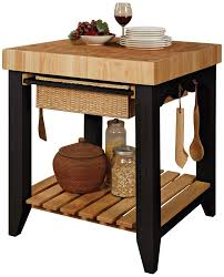 Kitchen Island With Chopping Block Top Amazon Com Powell Color Story Black Butcher Block Kitchen Island