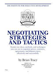 brian tracy negotiating strategies pdf negotiation empathy