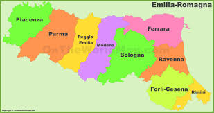 Italy Region Map by Emilia Romagna Provinces Map
