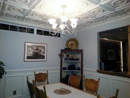 decor faux tin ceiling tiles design ideas for modern dining room