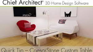 caesarstone custom furniture design with chief architect youtube