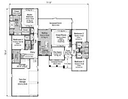 2000 Sq Ft Bungalow Floor Plans 4 Bedrm 2500 Sq Ft Country House Plan 141 1097