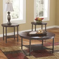 signature design by ashley sandling brown occasional table set